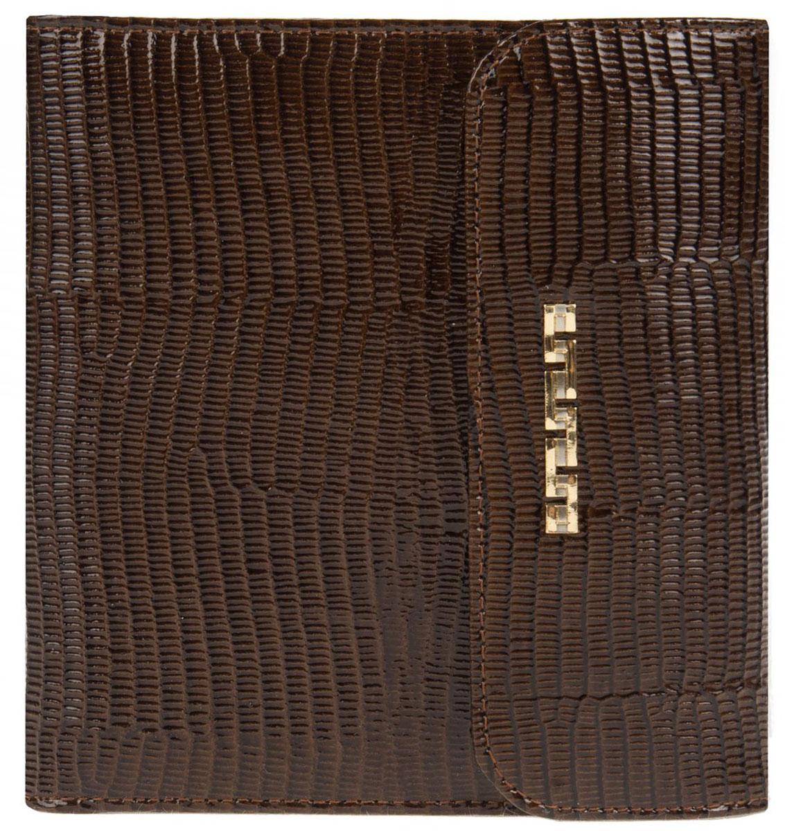 Визитница женская Franchesco Mariscotti, цвет: коричневый. 0-370-35 -  Визитницы