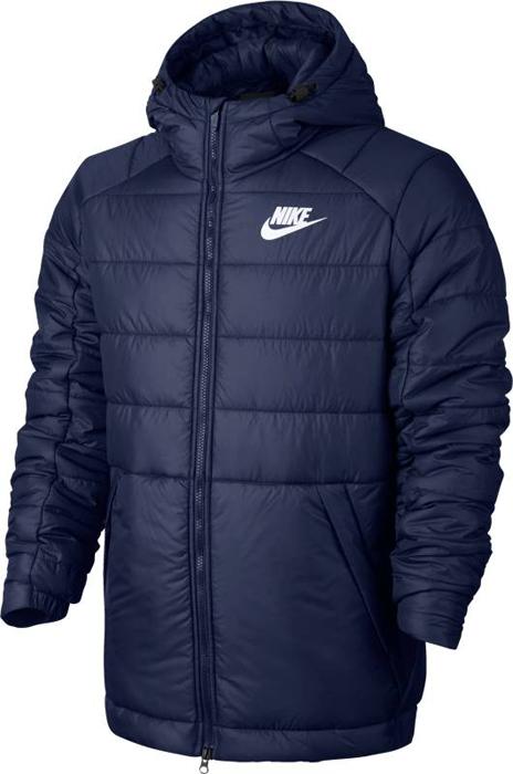 Куртка мужская Nike M NSW Syn Fill Jkt HD, цвет: синий. 861786-429. Размер XL (52/54)861786-429Дождливая погода - не повод забыть о стиле. Мужская куртка Nike Sportswear выполнена из влагонепроницаемой ткани. Отсеки с утеплителем и регулируемый капюшон сохраняют тепло, защищая от непогоды. Водоотталкивающая ткань рипстоп защищает от влаги и обеспечивает комфорт.