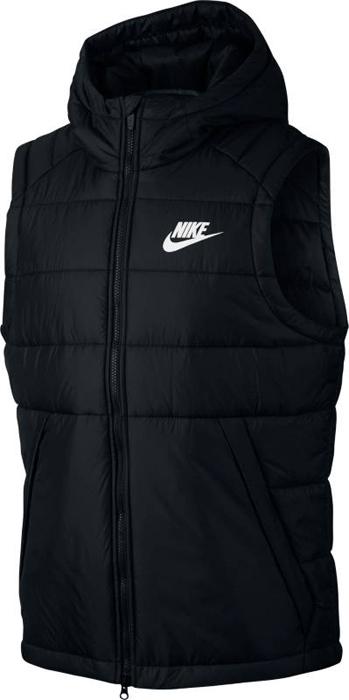 Куртка мужская Nike M NSW Syn Fill Vest, цвет: черный. 861790-010. Размер L (50/52)861790-010Mens Nike Sportswear Vest ТЕПЛО И СВОБОДА ДВИЖЕНИЙ. Дождливая погода — не повод забыть о стиле: представляем мужской жилет Nike Sportswear. Влагонепроницаемая ткань, отсеки с утеплителем и регулируемый капюшон отлично сохраняют тепло. Водоотталкивающая ткань рипстоп защищает от влаги и обеспечивает комфорт.