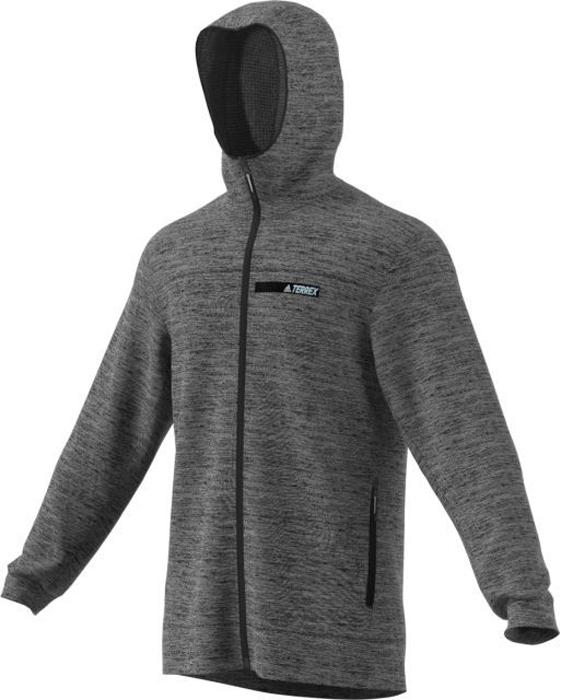 Худи мужское Adidas Ctc Ho Fleece, цвет: серый. BP9653. Размер 48BP9653Худи мужское Adidas CTC Ho Fleece выполнено из полиэстера. Модель с капюшоном и длинными рукавами застегивается на застежку-молнию.
