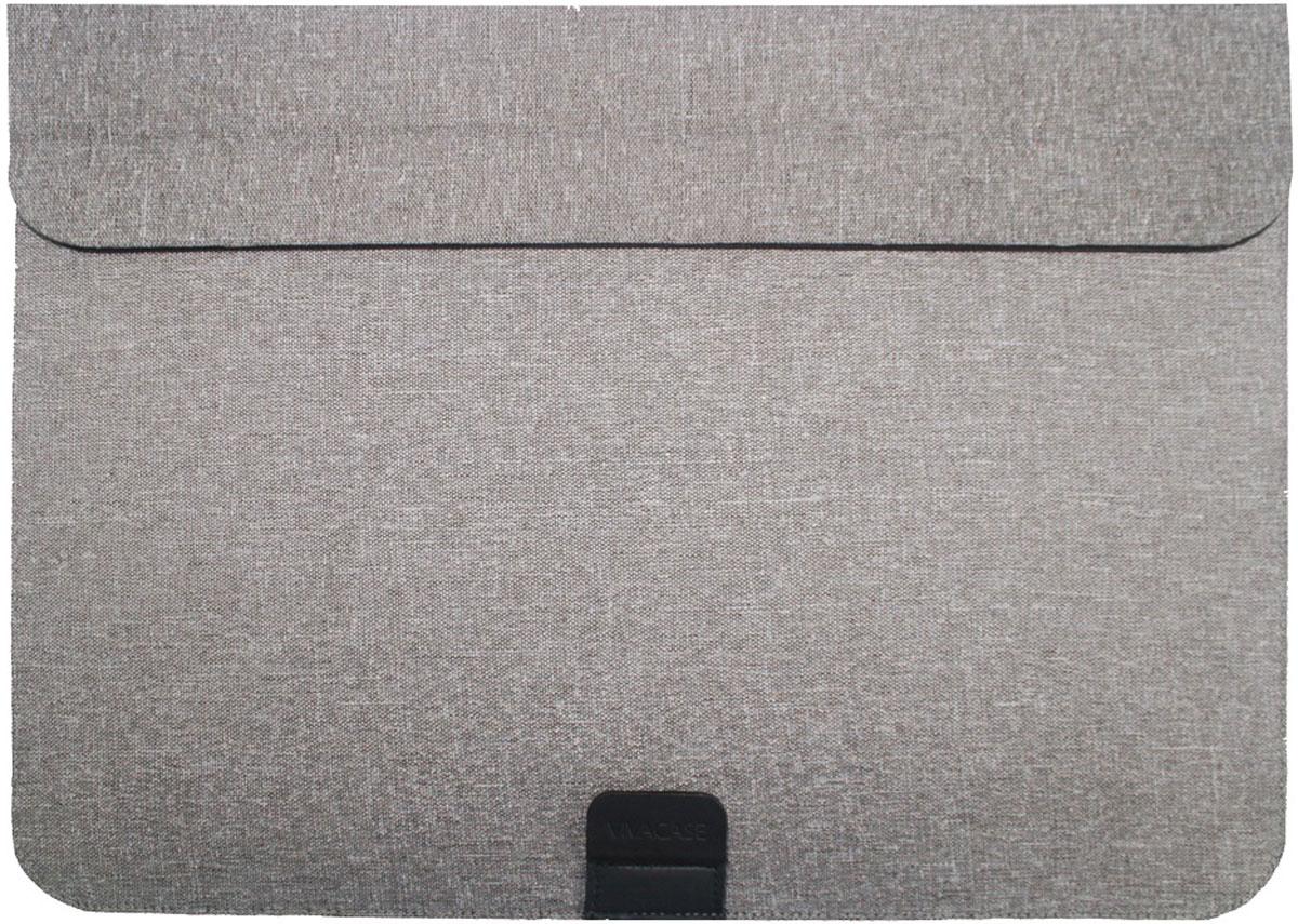 Vivacase Event, Grey чехол для ноутбуков 15-16VCN-FEV160-grПапка Jacquard специально разработана для компьютеров MacBook Air 15-16 дюймов.Дизайн папки продуман таким образом, чтобы предотвратить перегревания ноутбука во время работы. Папку можно свернуть таким образом, чтобы получилась удобная подставка, при этом будет сохраняться зазор между поверхностью папки и дном устройства, что способствует его вентиляции.Папка для ноутбука изготовлена из ткани Жаккард, которая благодаря специальному покрытию, обладает удивительной проточностью и износостойкостью. Материал приятен на ощупь и легко чистится. В основе изделия находится картон, который обеспечивает необходимую жесткость и защиту устройства от механических повреждений. Папка необыкновенно токая – всего 4 мм, но при этом и надежная. Вы можете быть уверены, что она очень долго сохранит прекрасный внешний вид.Лаконичный классический дизайн делает папку для MacBook Air уместной в любой ситуации. Она подойдет как к строгому классическом костюму, так и к одежде в стиле casual. Папка смотрится сильно и гармонично в сочетании с любым образом и станет достойным аксессуаром для вашего ноутбука.Одно отделение.
