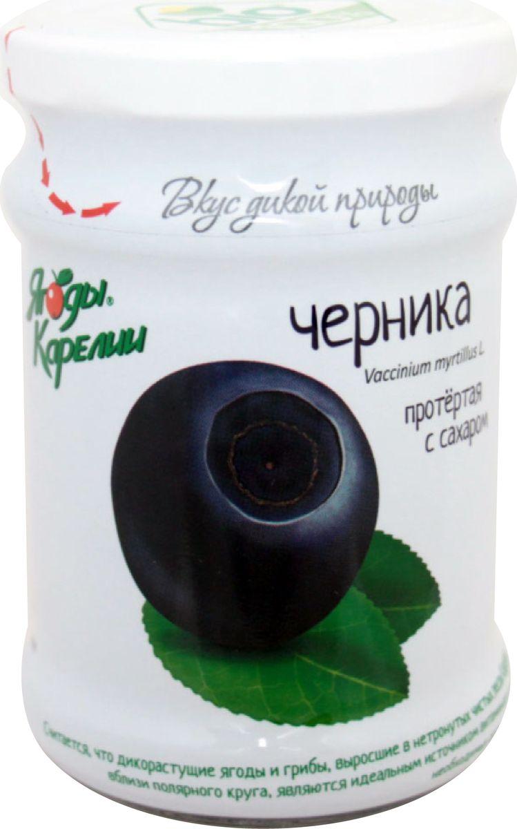 Ягоды Карелии черника протертая с сахаром, 280 г арта смородина протертая с сахаром 350 г
