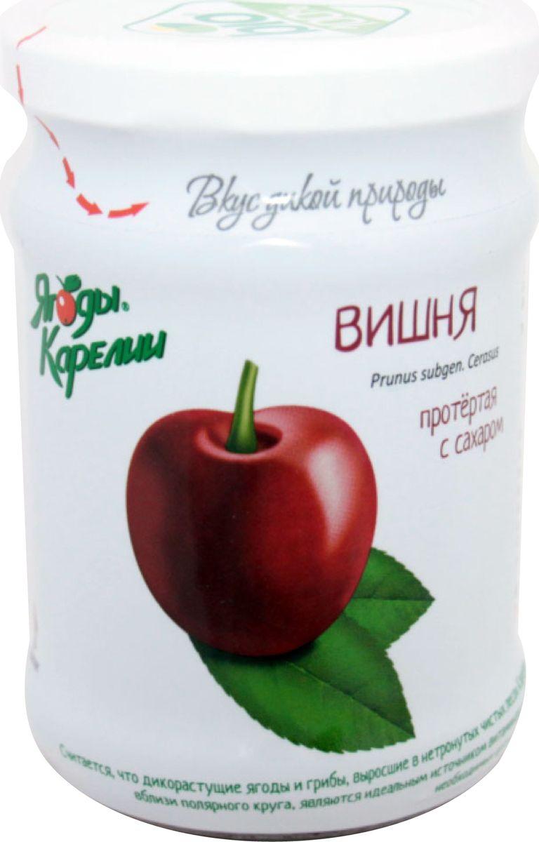 Ягоды Карелии вишня протертая с сахаром, 280 гр арта смородина протертая с сахаром 350 г