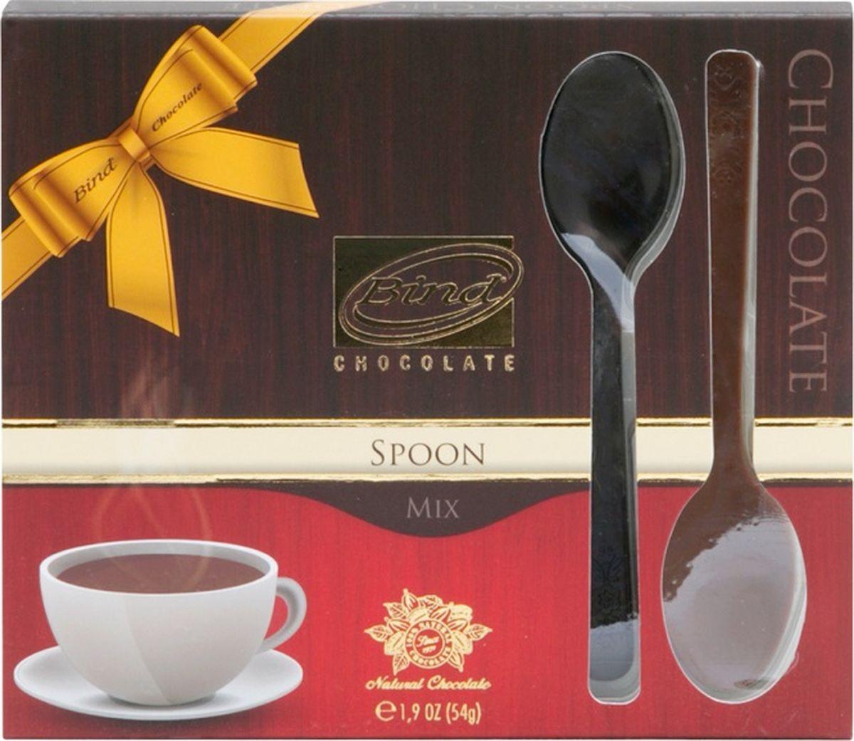 Bind Ложечка изделие из молочного и темного шоколада, 12 шт по 54 гPCK-6071Изделие из молочного и темного шоколада Ложечка(54гр- 12 шт)
