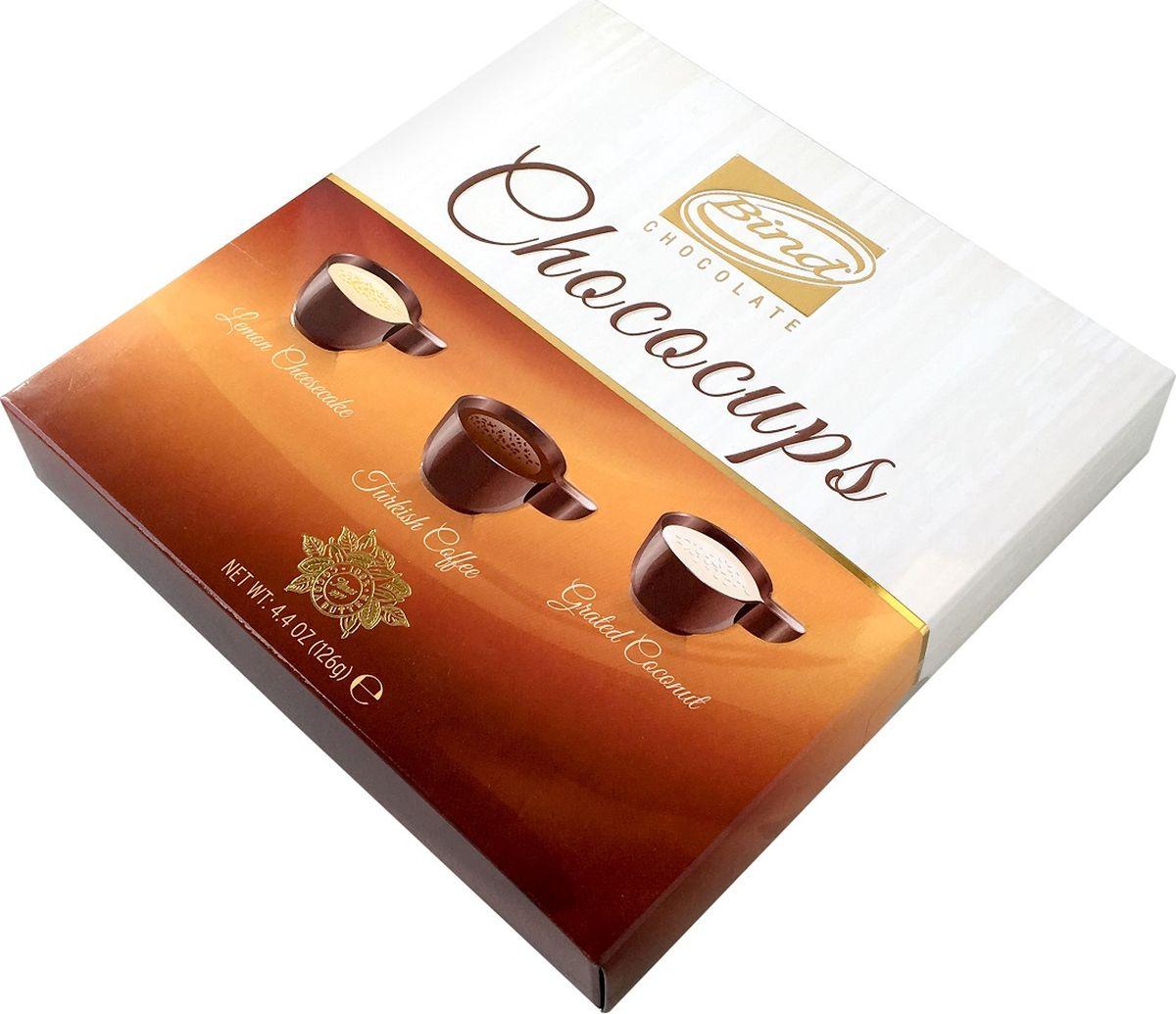 Bind Шоколадная чашечка набор шоколадных конфет, 126 г посыпка dr oetker шоколадная 10 г