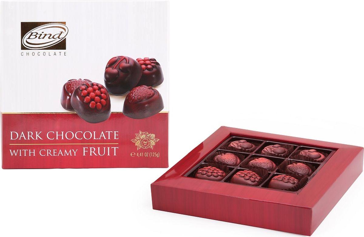 Bind Фруктовая коробка набор шоколадных конфет, 125 гPCK-6202Bind Набор шоколадных конфет «Фруктовая коробка» с ягодными вкусами (малина, клубника, вишня) 125 гр.