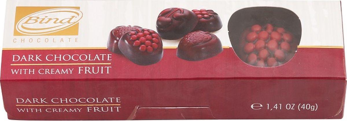 Bind Фруктовая коробка набор шоколадных конфет, 40 г bind сердце набор шоколадных конфет 225 г