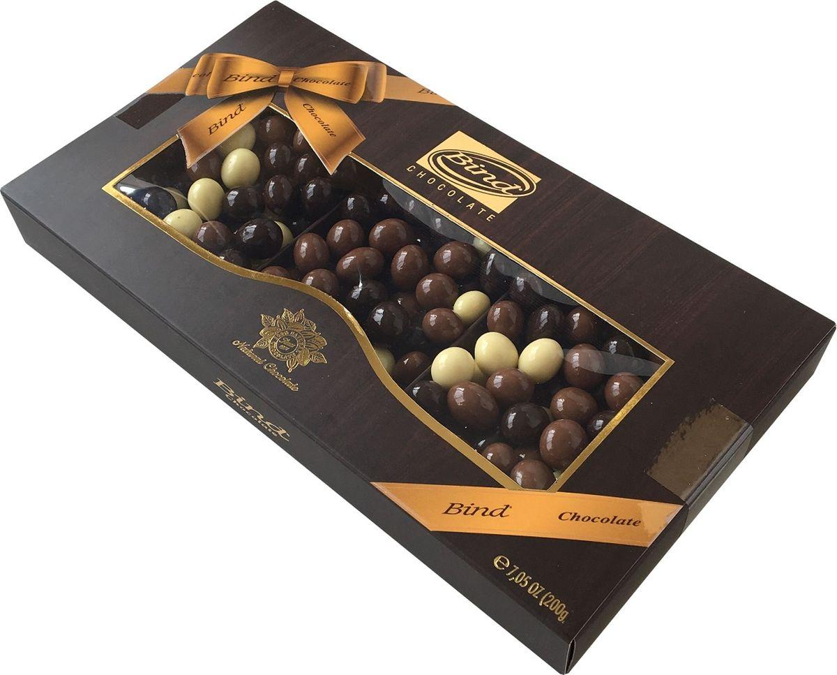 Bind кофе в микс-шоколаде драже, 200 г skittles 2 в 1 драже в сахарной глазури 12 пачек по 38 г