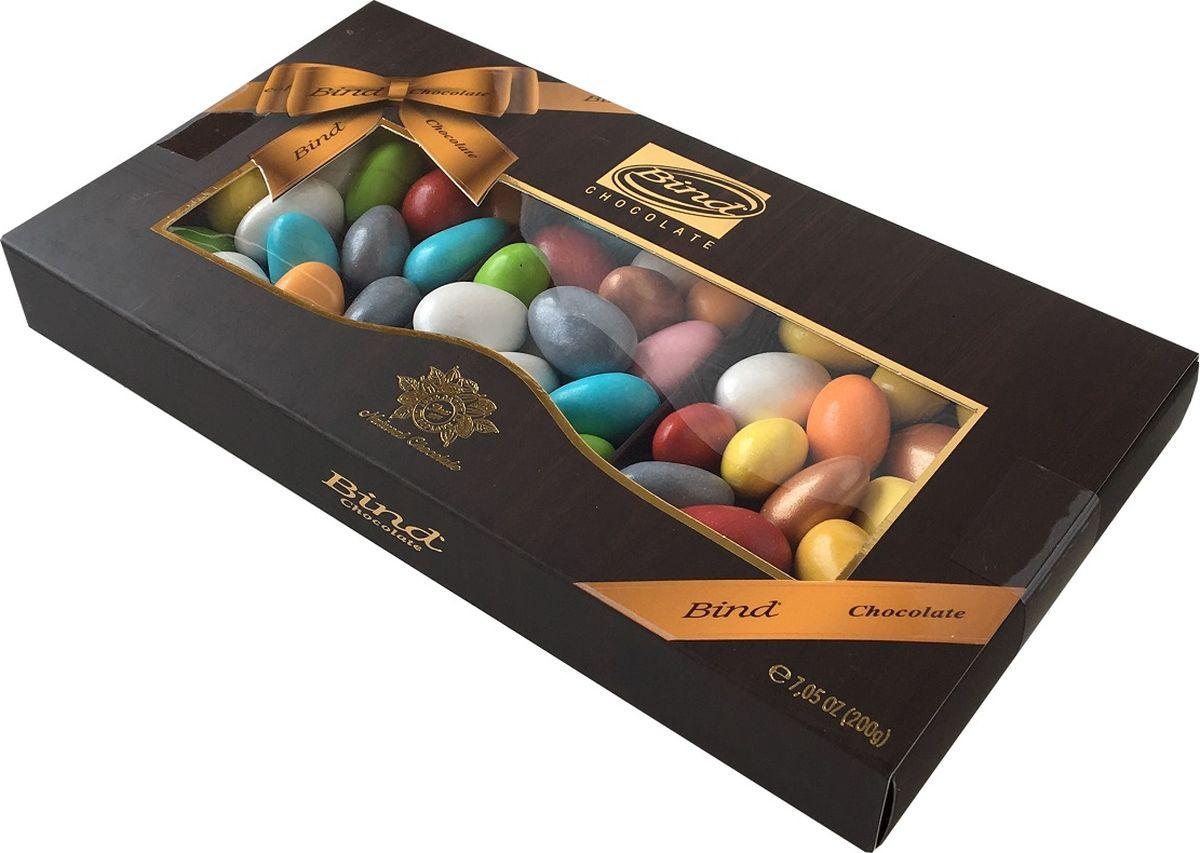 Bind миндаль в шоколаде в разноцветной глазури драже, 200 г дары природы миндаль без обжарки 150 г