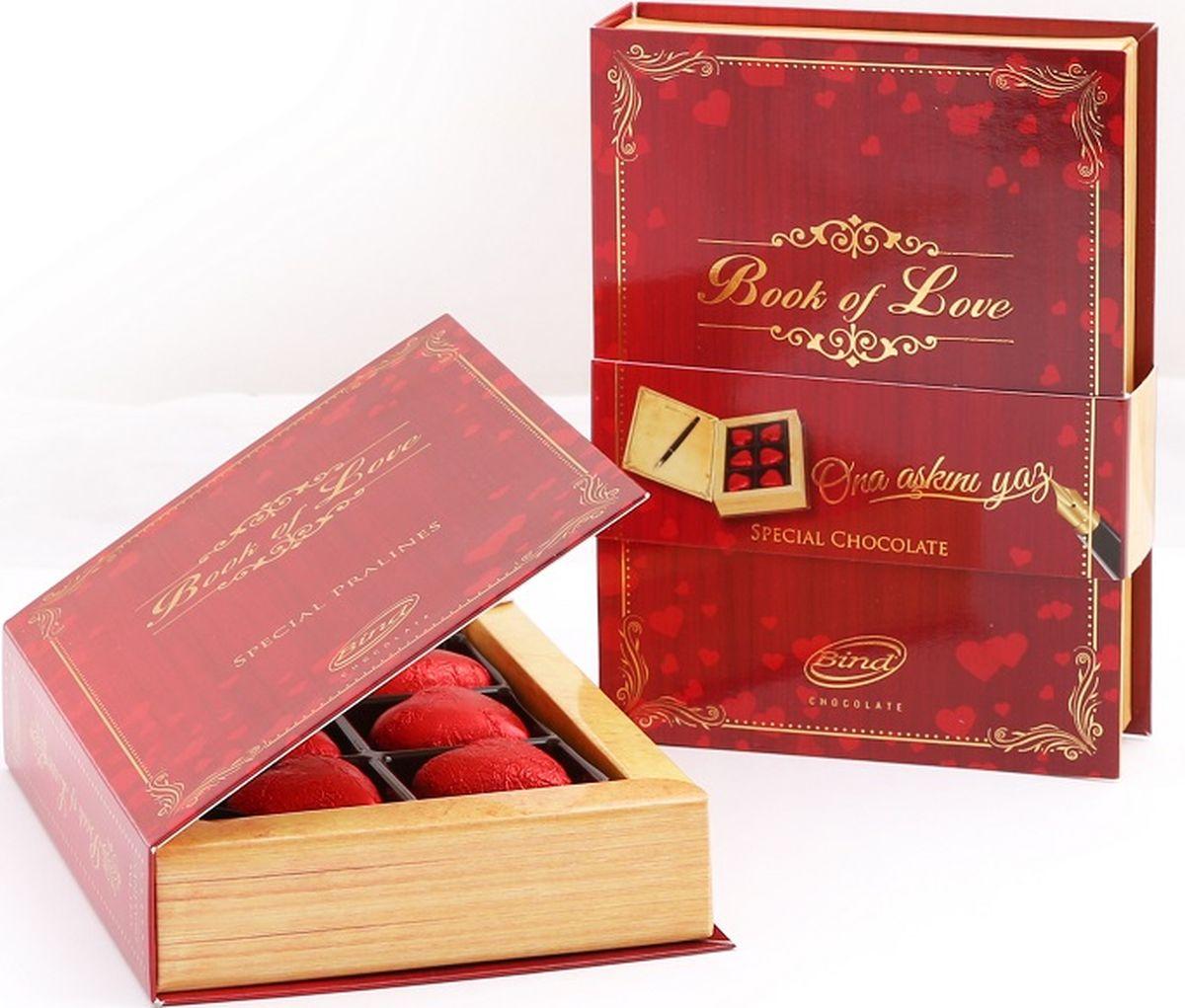Bind Книга любви набор шоколадных конфет, 90 г bind сердце набор шоколадных конфет 225 г