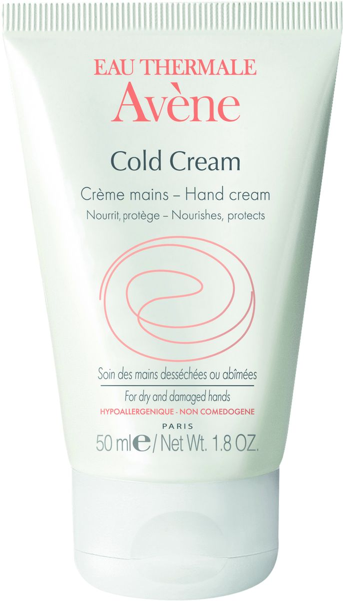 Avene Cold Cream Крем для рук с колд-кремом, 50 млС36321Восстанавливает и защищает сухую шелушащуюся кожу рук. Входящие в состав крема белый воск и жидкий парафин питают и смягчают кожу.