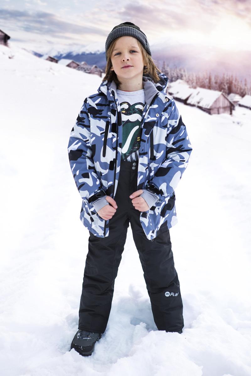 Брюки утепленные для мальчика atPlay!, цвет: синий. 2pt737. Размер 128 брюки спортивные atplay atplay mp002xb002mt