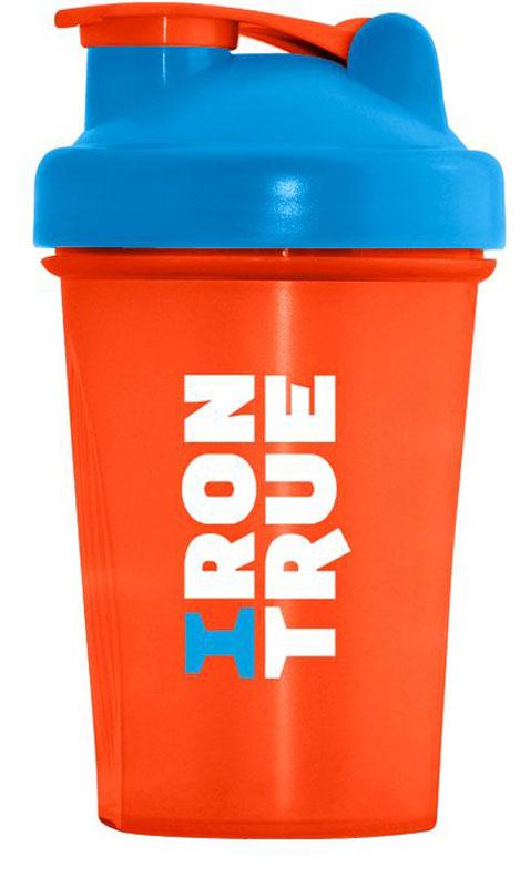 Шейкер спортивный Irontrue, цвет: оранжевый, голубой, 500 мл4603726212229Классический шейкер объемом 500мл. Шарик-пружинка в комплекте. Не содержит BPA.