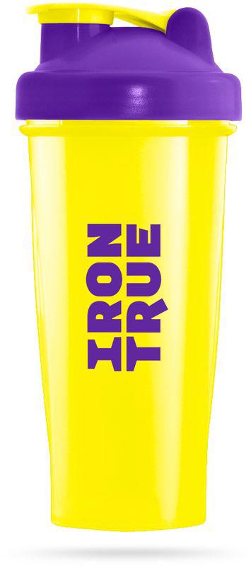 Шейкер спортивный Irontrue, цвет: желтый, фиолетовый, 700 мл4603726212243Классический шейкер объемом 700мл. Шарик-пружинка в комплекте. Не содержит BPA.