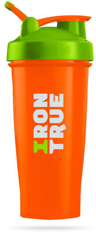 Шейкер спортивный Irontrue, цвет: оранжевый, зеленый, 700 мл4603726212304Шейкер спортивный Irontrue выполнен из полипропилена. Шарик-пружинка в комплекте. Прорезиненное крепление Loop для удобного ношения. Не содержит BPA.Как повысить эффективность тренировок с помощью спортивного питания? Статья OZON Гид