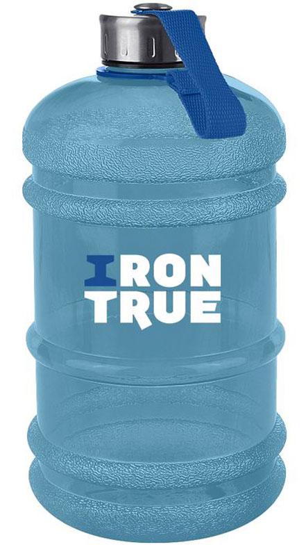 Бутылка спортивная Irontrue, цвет: голубой, 2,2 л. ITB931-2200 бутылка спортивная irontrue цвет черный красный 2 2 л itb931 2200