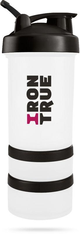 Шейкер спортивный  Irontrue , цвет: белый, черный, 500 мл - Шейкеры и бутылки