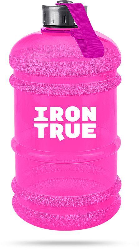Бутылка спортивная Irontrue, цвет: розовый, 2,2 л. ITB931-22004603726212427Объем 2200мл. Бутылка оригинальной формы «канистра» с удобной ручкой. Крышка металлическая с резиновым вкладышем для обеспечения герметичности, крепится к бутылке при помощи ремешка. Материал PETG.