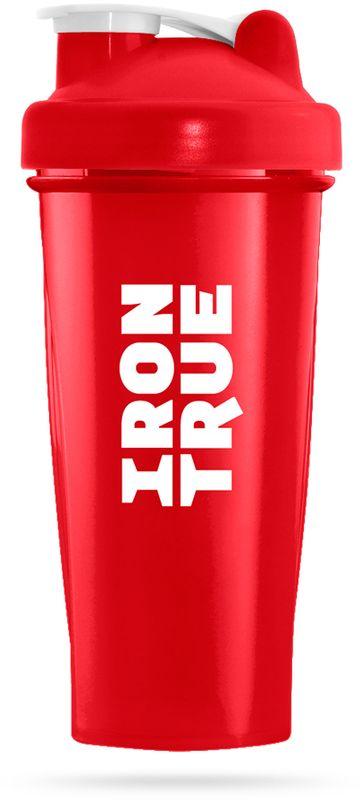 Шейкер спортивный Irontrue, цвет: красный, 700 мл4603726212489Классический спортивный шейкер Irontrue выполнен из высококачественного полипропилена. Шарик-пружинка в комплекте. Не содержит BPA.