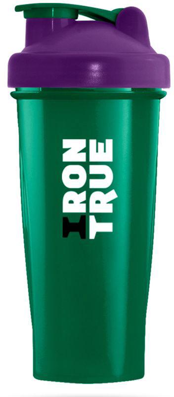 Шейкер спортивный Irontrue, цвет: зеленый, фиолетовый, 700 мл4603726212687Классический спортивный шейкер Irontrue выполнен из высококачественного полипропилена. Шарик-пружинка в комплекте. Не содержит BPA.