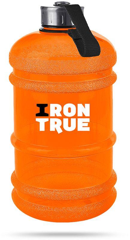 Бутылка спортивная Irontrue, цвет: оранжевый, 2,2 л. ITB931-22004603726212793Спортивная бутылка Irontrue оригинальной формы канистра с удобной ручкой выполнена из материала PETG. Крышка металлическая с резиновым вкладышем для обеспечения герметичности, крепится к бутылке при помощи ремешка.
