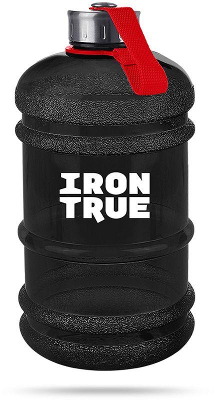 Бутылка спортивная Irontrue, цвет: черный, красный, 2,2 л. ITB931-22004603726212809Спортивная бутылка Irontrue оригинальной формы канистра с удобной ручкой выполнена из материала PETG. Крышка металлическая с резиновым вкладышем для обеспечения герметичности, крепится к бутылке при помощи ремешка.