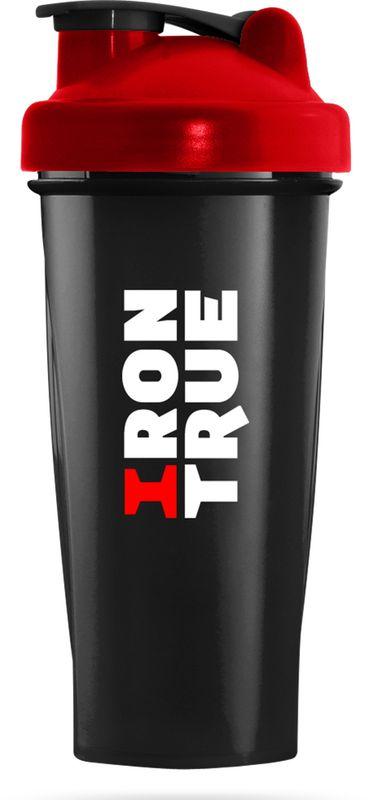 Шейкер спортивный Irontrue, цвет: черный, красный, 700 мл4603726212854Классический спортивный шейкер Irontrue выполнен из высококачественного полипропилена. Шарик-пружинка в комплекте. Не содержит BPA.
