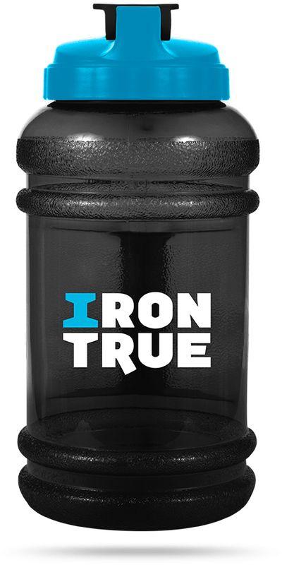 Бутылка спортивная Irontrue, цвет: черный, синий, 2,2 л бутылка спортивная irontrue цвет черный красный 2 2 л itb931 2200