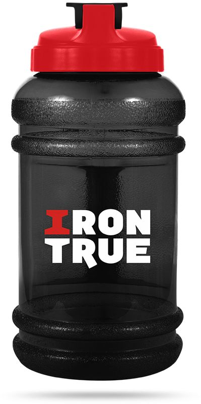 Бутылка спортивная Irontrue, цвет: черный, красный, 2,2 л4603732332850Спортивная бутылка Irontrue оригинальной формы канистра с удобной ручкой выполнена из материала PETG. Удобная крышка не оставит никого равнодушным, обеспечивая герметичность и удобство использования.Как повысить эффективность тренировок с помощью спортивного питания? Статья OZON Гид