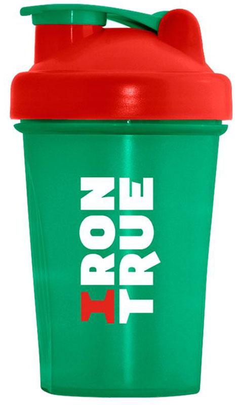 Шейкер спортивный Irontrue, цвет: зеленый, красный, 500 мл4603732332942Классический шейкер объемом 500мл. Шарик-пружинка в комплекте. Не содержит BPA.