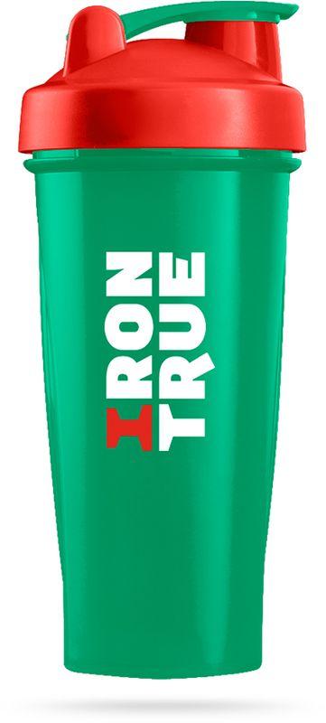 Шейкер спортивный Irontrue, цвет: зеленый, красный, 700 мл4603732332966Классический спортивный шейкер Irontrue выполнен из высококачественного полипропилена. Шарик-пружинка в комплекте. Не содержит BPA.