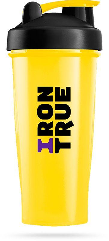 Шейкер спортивный Irontrue, цвет: желтый, черный, 700 мл4603732332980Классический спортивный шейкер Irontrue выполнен из высококачественного полипропилена. Шарик-пружинка в комплекте. Не содержит BPA.