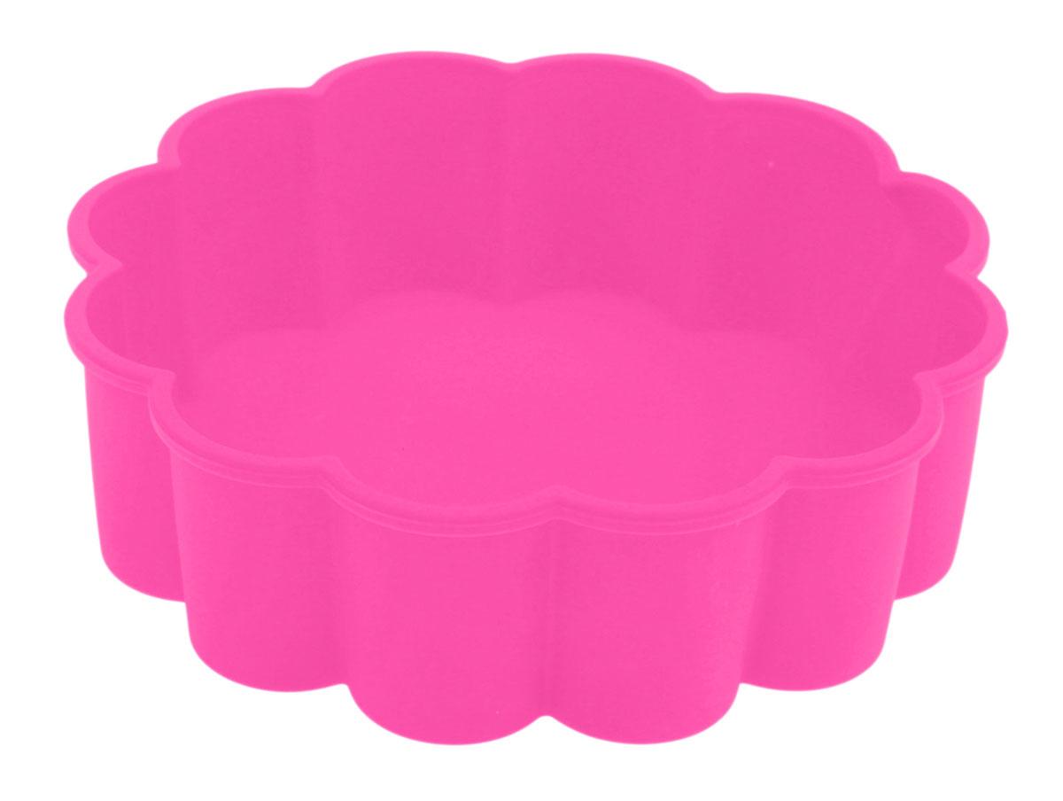 Форма для выпечки Доляна Цветок, силиконовая, цвет: розовый, диаметр 19 см1000340_розовыйФорма Доляна Цветок, выполненная из силикона, будет отличным выбором для всех любителей домашней выпечки.Силиконовые формы для выпечки имеют множество преимуществ по сравнению с традиционными металлическими формами и противнями. Нет необходимости смазывать форму маслом. Форма быстро нагревается, равномерно пропекает, не допускает подгорания выпечки с краев или снизу. Вынимать продукты из формы очень легко. Слегка выверните края формы или оттяните в сторону, и ваша выпечка легко выскользнет из формы. Материал устойчив к фруктовым кислотам, не ржавеет, на нем не образуются пятна. Форма может быть использована в духовках и микроволновых печах (выдерживает температуру от -40°С до +230°С), также ее можно помещать в морозильную камеру и холодильник. Можно мыть в посудомоечной машине.Диаметр формы: 19 см.Высота формы: 6,2 см.