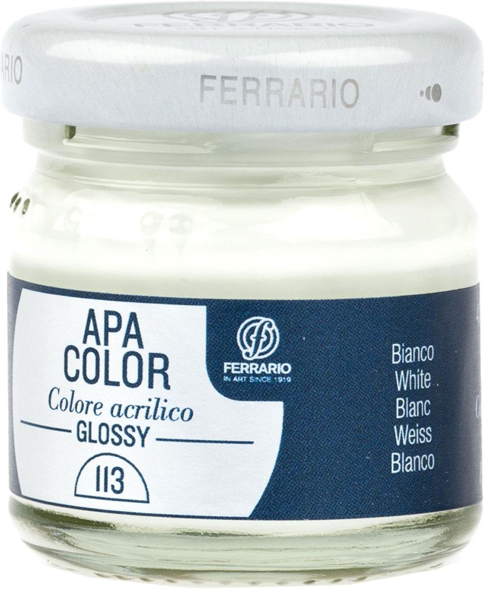 Ferrario Краска акриловая Apa Color цвет белила глянцBA0040В0113Глянцевая акриловая краска Apa Color итальянской компании Ferrario на водной основе, готова к использованию. Основные качества акриловой краски Apa Color: прочность, светостойкость и экологичность. Благодаря акриловой смоле Apa Color пластична и не дает трещин. Именно поэтому краска прекрасно ложится на любые поверхности, будь то стекло, дерево или ткань, что особенно хорошо в дизайне и декоре. Она быстро сохнет, после высыхания становится водостойкой. Акриловая краска Apa Color не потускнеет со временем, ее светостойкость не позволит измениться цвету, он не выгорит на солнце и не пожелтеет. Акриловая краска Apa Color – это отличный выбор в пользу яркой живописи, так как в ее палитре только глубокие и насыщенные цвета. Из-за того, что акриловая краска Apa Color на водной основе, она почти совсем не пахнет, малотоксична – подходит для работы в помещениях, можно заниматься творчеством вместе с детьми. Акриловая краска Apa Color разводится водой, однако это не значит, что для нее нельзя использовать специальные растворители и медиумы, предназначенные для акриловых красок – в этом случае сохраняется высокая пигментированность, но объем краски увеличивается и появляется возможность создания различных фактур и эффектов. Акриловую краску Apa Color легко наносить кистью, шпателем, валиком.