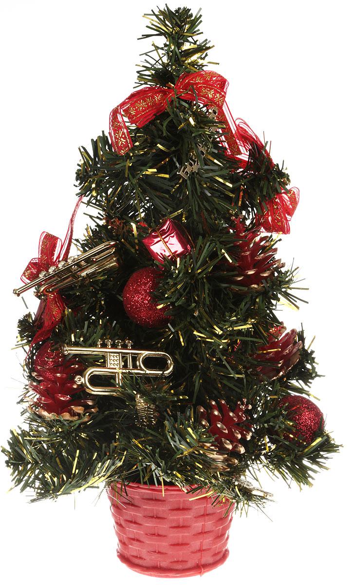 Елка настольная Денежного года, цвет: красный, 50 см2476546Искусственная ель, выполненная из ПВХ и пластика, станет идеальным украшением для новогоднего интерьера и создаст теплую и уютную атмосферу праздника. Ее не нужно ни собирать, ни наряжать, зато настроение праздника она создает очень быстро.Елка украшена текстильными бантами, фигурками и шарами. Откройте для себя удивительный мир сказок и грез. Почувствуйте волшебные минуты ожидания праздника, создайте новогоднее настроение вашим дорогим и близким.
