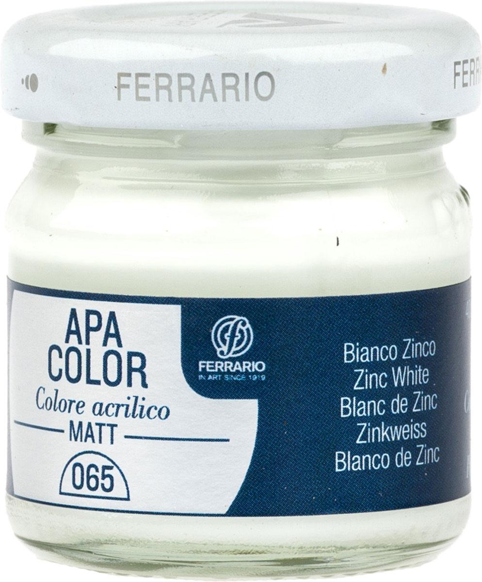 Ferrario Краска акриловая Apa Color цвет белила цинковые BA0040А0065BA0040А0065Матовая акриловая краска Apa Color итальянской компании Ferrario на водной основе, готова к использованию. Основные качества акриловой краски Apa Color: прочность, светостойкость и экологичность. Благодаря акриловой смоле Apa Color пластична и не дает трещин. Именно поэтому краска прекрасно ложится на любые поверхности, будь то стекло, дерево или ткань, что особенно хорошо в дизайне и декоре. Она быстро сохнет, после высыхания становится водостойкой. Акриловая краска Apa Color не потускнеет со временем, ее светостойкость не позволит измениться цвету, он не выгорит на солнце и не пожелтеет. Акриловая краска Apa Color – это отличный выбор в пользу яркой живописи, так как в ее палитре только глубокие и насыщенные цвета. Из-за того, что акриловая краска Apa Color на водной основе, она почти совсем не пахнет, малотоксична – подходит для работы в помещениях, можно заниматься творчеством вместе с детьми. Акриловая краска Apa Color разводится водой, однако это не значит, что для нее нельзя использовать специальные растворители и медиумы, предназначенные для акриловых красок – в этом случае сохраняется высокая пигментированность, но объем краски увеличивается и появляется возможность создания различных фактур и эффектов. Акриловую краску Apa Color легко наносить кистью, шпателем, валиком.