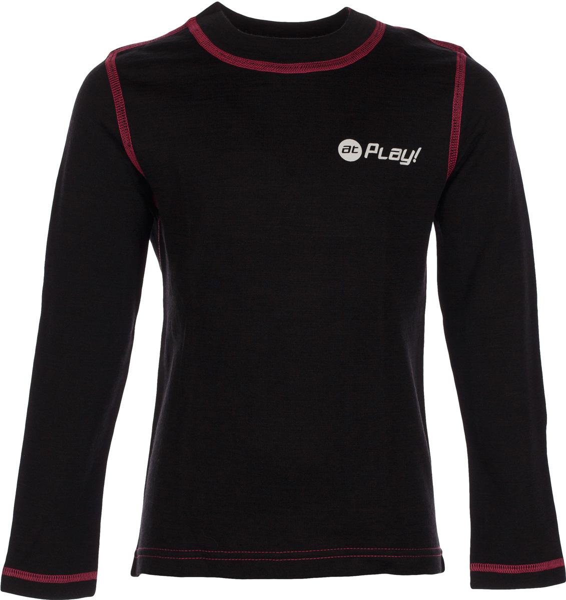 Футболка детская atPlay!, цвет: черный, розовый. 3tjk761. Размер 1223tjk761