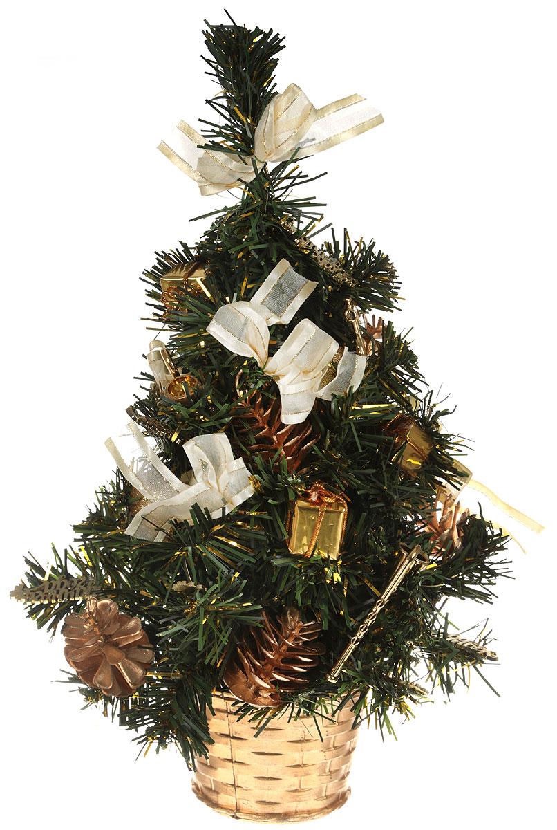 Ель искусственная Sima-land Удачи в Новом году!, настольная, высота 40 см2476544_золотистыйНевозможно представить нашу жизнь без праздников! Мы всегда ждем их и предвкушаем, обдумываем, как проведем памятный день, тщательно выбираем подарки и аксессуары, ведь именно они создают и поддерживают торжественный настрой. Для большего объема и пушистости, ветки ели закреплены в хаотичном порядке. А благодаря аккуратному горшочку, в который помещена елочка, она станет прекрасным украшением любого интерьера.Елочка Удачи в Новом году! это отличный выбор, который привнесет атмосферу праздника в ваш дом!