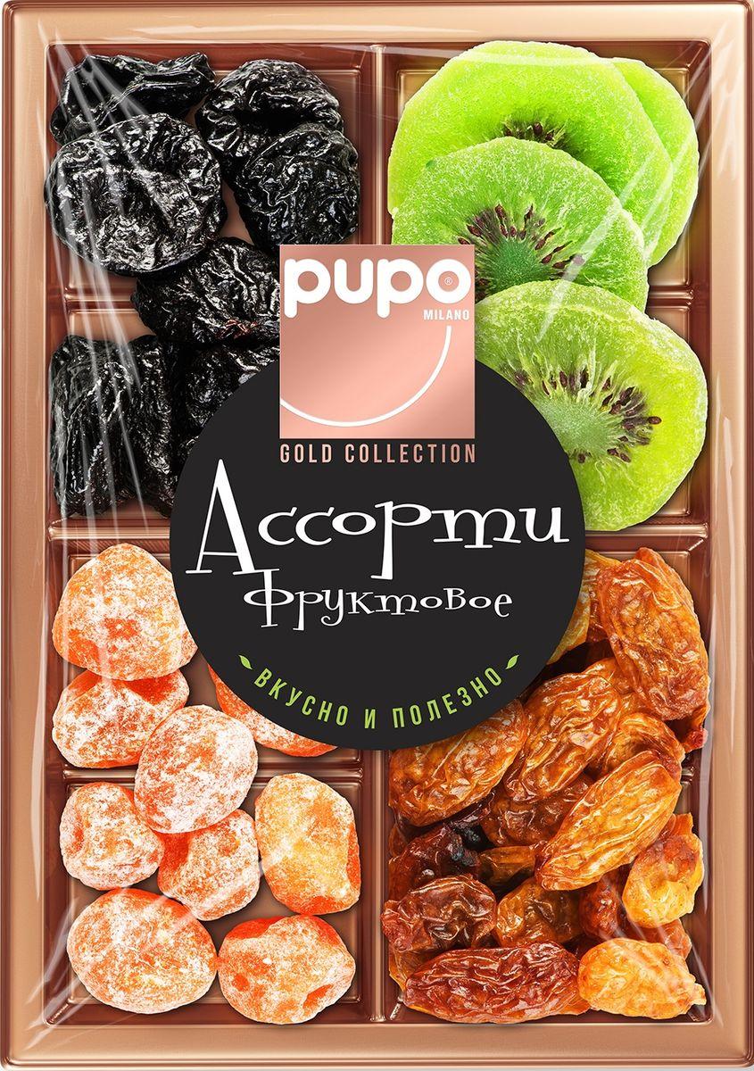 Pupo Gold Collection фруктовое ассорти вишня, дыня, 230 г pupo конфеты киви в глазури 200 г