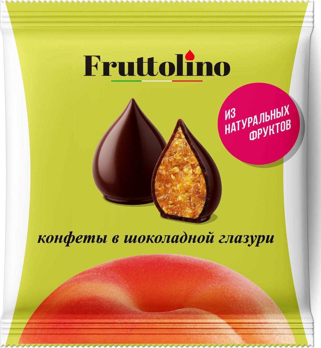 Fruttolino Персик конфеты, 140 г16.7378Сочные и душистые фрукты – основной ингредиент конфет Fruttolino, приготовленных из натуральных фруктов и покрытых превосходной шоколадной глазурью, созданной из отборных африканских какао-бобов.Конфеты Fruttolino прекрасно заменят привычные