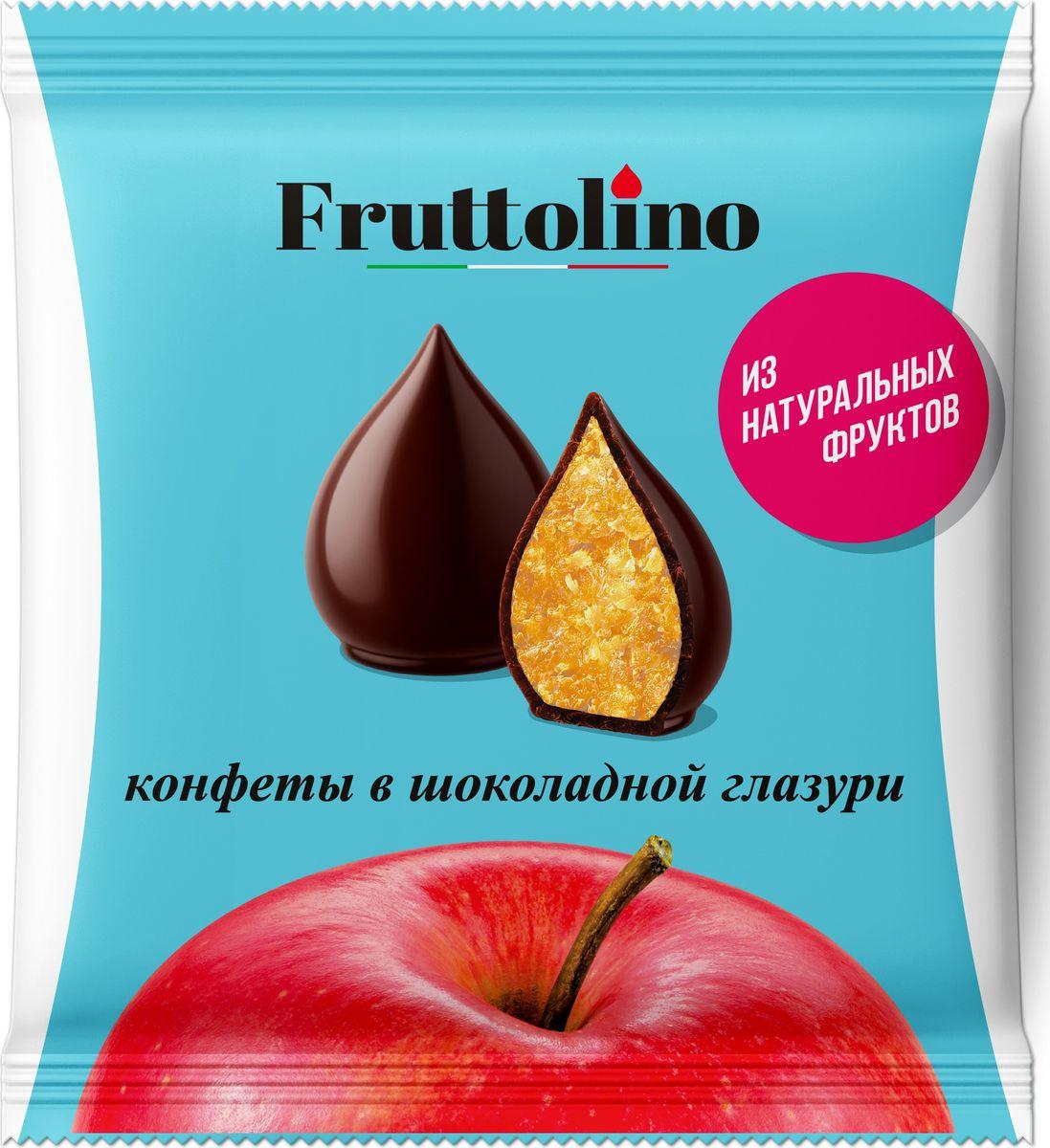 Fruttolino Яблоко конфеты, 140 г16.7385Сочные и душистые фрукты – основной ингредиент конфет Fruttolino, приготовленных из натуральных фруктов и покрытых превосходной шоколадной глазурью, созданной из отборных африканских какао-бобов.Конфеты Fruttolino прекрасно заменят привычные