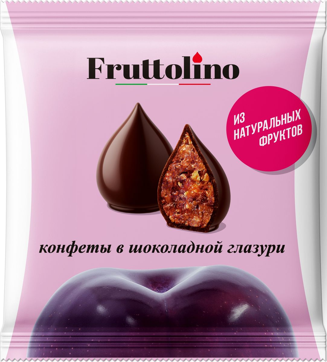 Fruttolino Чернослив конфеты, 140 г16.7408Сочные и душистые фрукты – основной ингредиент конфет Fruttolino, приготовленных из натуральных фруктов и покрытых превосходной шоколадной глазурью, созданной из отборных африканских какао-бобов.Конфеты Fruttolino прекрасно заменят привычные