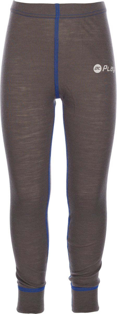 Термобелье брюки детские atPlay!, цвет: серый, синий. 3tpt762. Размер 1163tpt762Термобелье брюки atPlay! выполнены из шерсти мериносовых овец. Легкое, удобное, не стесняющее движений термобелье станет идеальным первым слоем и отличным дополнением к мембранной одежде. Спасает от переохлаждения и от перегрева, а также отводит излишек влаги от кожи. Плоские швы не натирают и не давят на кожу. Шерсть мериносов не колется и не вызывает аллергию. Этот тип термобелья подойдет для чувствительных к холоду детей и при очень низких температурах воздуха.