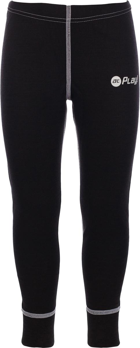 Термобелье брюки детские atPlay!, цвет: черный, белый. 3tpt762. Размер 1343tpt762Термобелье брюки atPlay! выполнены из шерсти мериносовых овец. Легкое, удобное, не стесняющее движений термобелье станет идеальным первым слоем и отличным дополнением к мембранной одежде. Спасает от переохлаждения и от перегрева, а также отводит излишек влаги от кожи. Плоские швы не натирают и не давят на кожу. Шерсть мериносов не колется и не вызывает аллергию. Этот тип термобелья подойдет для чувствительных к холоду детей и при очень низких температурах воздуха.