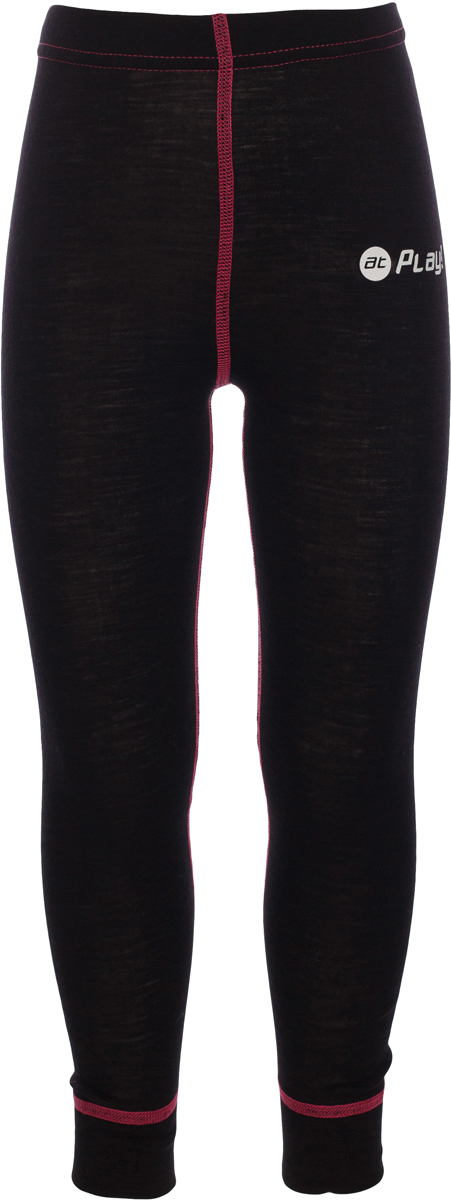Термобелье брюки детские atPlay!, цвет: черный, розовый. 3tpt762. Размер 1283tpt762Термобелье брюки atPlay! выполнены из шерсти мериносовых овец. Легкое, удобное, не стесняющее движений термобелье станет идеальным первым слоем и отличным дополнением к мембранной одежде. Спасает от переохлаждения и от перегрева, а также отводит излишек влаги от кожи. Плоские швы не натирают и не давят на кожу. Шерсть мериносов не колется и не вызывает аллергию. Этот тип термобелья подойдет для чувствительных к холоду детей и при очень низких температурах воздуха.