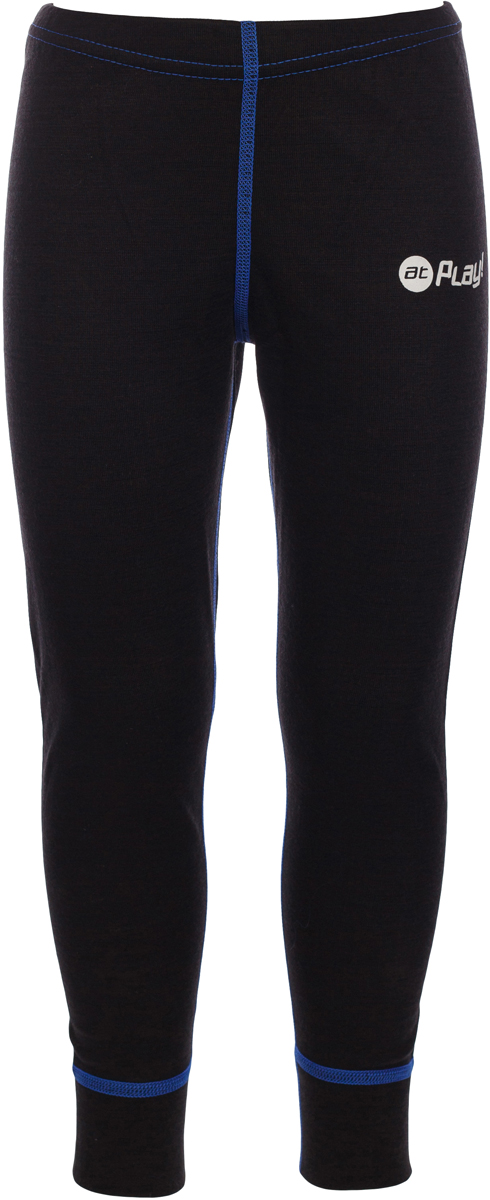 Термобелье брюки детские atPlay!, цвет: черный, синий. 3tpt762. Размер 1403tpt762Термобелье брюки atPlay! выполнены из шерсти мериносовых овец. Легкое, удобное, не стесняющее движений термобелье станет идеальным первым слоем и отличным дополнением к мембранной одежде. Спасает от переохлаждения и от перегрева, а также отводит излишек влаги от кожи. Плоские швы не натирают и не давят на кожу. Шерсть мериносов не колется и не вызывает аллергию. Этот тип термобелья подойдет для чувствительных к холоду детей и при очень низких температурах воздуха.