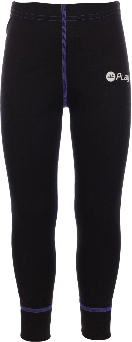 Термобелье брюки детские atPlay!, цвет: черный, фиолетовый. 3tpt762. Размер 1103tpt762Термобелье брюки atPlay! выполнены из шерсти мериносовых овец. Легкое, удобное, не стесняющее движений термобелье станет идеальным первым слоем и отличным дополнением к мембранной одежде. Спасает от переохлаждения и от перегрева, а также отводит излишек влаги от кожи. Плоские швы не натирают и не давят на кожу. Шерсть мериносов не колется и не вызывает аллергию. Этот тип термобелья подойдет для чувствительных к холоду детей и при очень низких температурах воздуха.