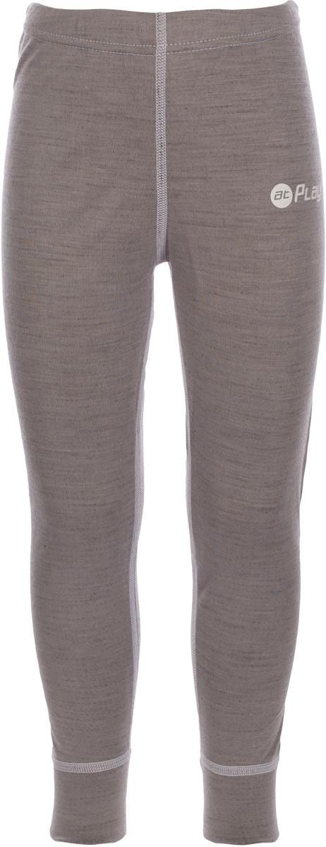 Термобелье брюки детские atPlay!, цвет: серый, белый. 3tpt763. Размер 1343tpt763Термобелье брюки atPlay! выполнены из шерсти мериносовых овец с добавлением синтетических волокон для большей износостойкости. Легкое, удобное, не стесняющее движений термобелье станет идеальным первым слоем и отличным дополнением к мембранной одежде.Спасает от переохлаждения и от перегрева, а также отводит излишек влаги от кожи. Плоские швы не натирают и не давят на кожу. Шерсть мериносов не колется и не вызывает аллергию.