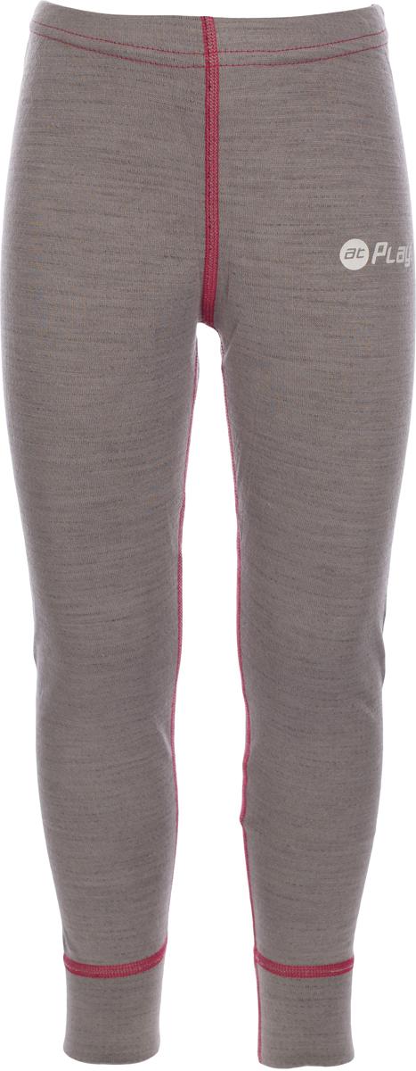 Термобелье брюки детские atPlay!, цвет: серый, розовый. 3tpt763. Размер 1283tpt763Термобелье брюки atPlay! выполнены из шерсти мериносовых овец с добавлением синтетических волокон для большей износостойкости. Легкое, удобное, не стесняющее движений термобелье станет идеальным первым слоем и отличным дополнением к мембранной одежде.Спасает от переохлаждения и от перегрева, а также отводит излишек влаги от кожи. Плоские швы не натирают и не давят на кожу. Шерсть мериносов не колется и не вызывает аллергию.