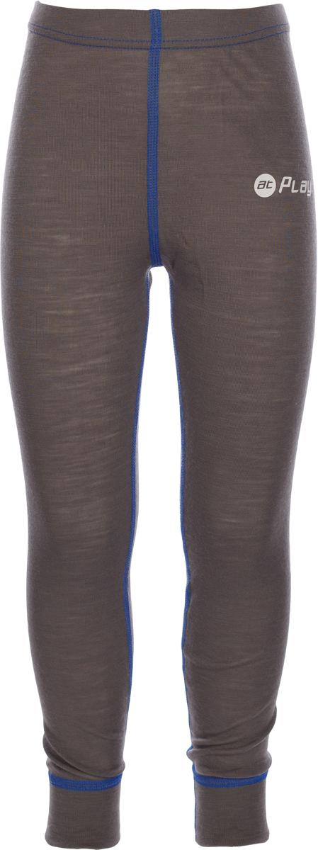 Термобелье брюки детские atPlay!, цвет: серый, синий. 3tpt763. Размер 863tpt763Термобелье брюки atPlay! выполнены из шерсти мериносовых овец с добавлением синтетических волокон для большей износостойкости. Легкое, удобное, не стесняющее движений термобелье станет идеальным первым слоем и отличным дополнением к мембранной одежде.Спасает от переохлаждения и от перегрева, а также отводит излишек влаги от кожи. Плоские швы не натирают и не давят на кожу. Шерсть мериносов не колется и не вызывает аллергию.